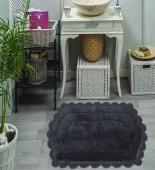 BELLA (тем фиолет) Набор ков. для ванной кружевной 50х70 и 60х100см