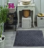 EVA (тем.фиолет) Набор ков. для ванной кружевной 50х70 и 60х100см