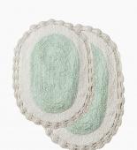 FRIDA (ментол) Набор ков. для ванной кружевной 60х100 и 50х70см